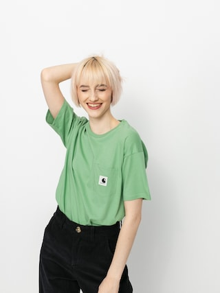 Tricou Carhartt WIP Pocket Wmn (mineral green)