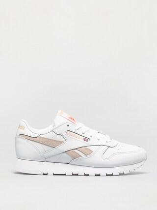 Pantofi Reebok Cl Lthr Wmn (white/aurorg/cerpnk)