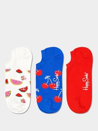 u0218osete Happy Socks Fruit No Show 3pk (white/royal/red)