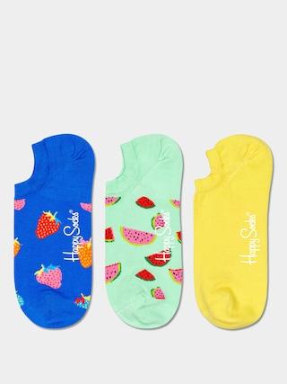 u0218osete Happy Socks Fruit No Show 3pk (royal/mint/yellow)