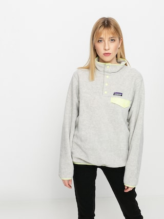 Patagonia Hanorac din fleece Lightweight Synchilla Snap T Wmn (oatmeal heather w/jellyfish yellow)