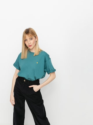 Tricou Carhartt WIP Chase Wmn (hydro/gold)