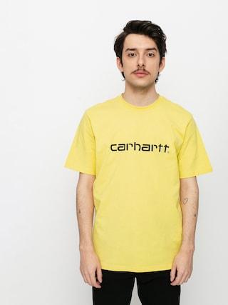 Tricou Carhartt WIP Script (limoncello/black)