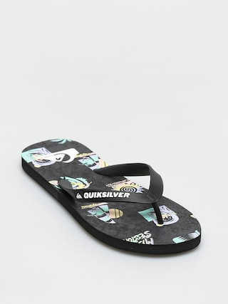 papuci de plaju0103 Quiksilver Molokai Island Pulse (black/grey/black)