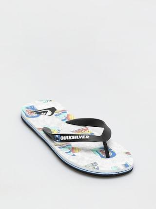 papuci de plaju0103 Quiksilver Molokai Island Pulse (black/white/black)