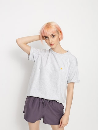 Tricou Carhartt WIP Chase Wmn (ash heather/gold)