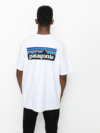 Tricou Patagonia P6 Logo Responsibili (white)