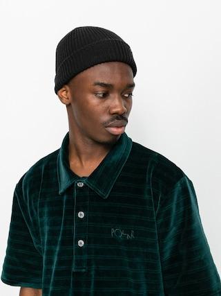 Tricou polo Polar Skate Stripe Velour (dark green)