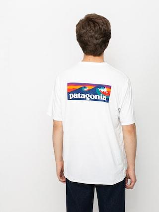 Tricou Patagonia Cap Cool Daily Graphic (boardshort logo/white)