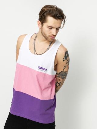 Tricou MassDnm Zone (white/light pink/purple)