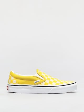 Pantofi Vans Classic Slip On (checkerboard cyber yellow/true white)