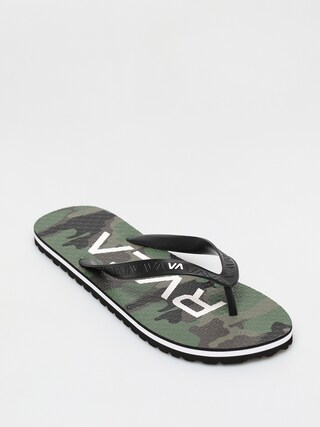 papuci de plaju0103 RVCA Trenchtown Sandals I (camo)