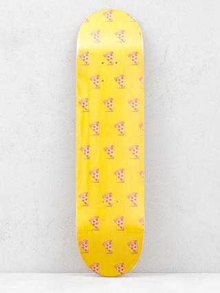 Placu0103 Pizza Skateboards Emoji Pattern (yellow)