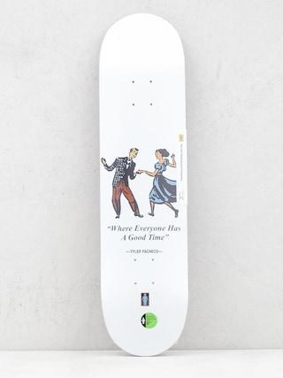 Placu0103 Girl Skateboard Pacheco Good Times W41 (white)