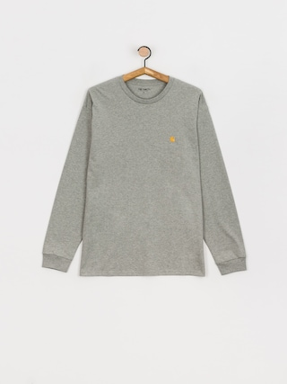 Tricou Carhartt WIP Chase (grey heather/gold)
