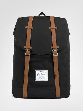 Rucsac Herschel Supply Co. Retreat (black/tan synthetic leather)