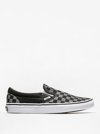 Pantofi Vans Classic Slip On (black/pewter checkerboard)