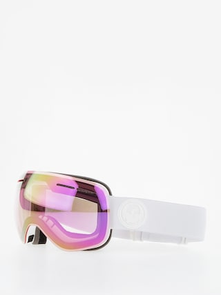 Ochelari pentru snowboard Dragon X1s (whiteout/lumalens pink ion/lumalens dark smoke)