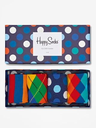 u0218osete Happy Socks Giftbox 4pk (navy/blue/white)