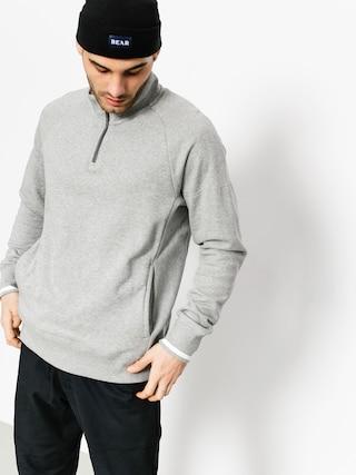 Tricou Nike SB Top Evrt Mock Hz (dk grey heather/white/dark steel grey)