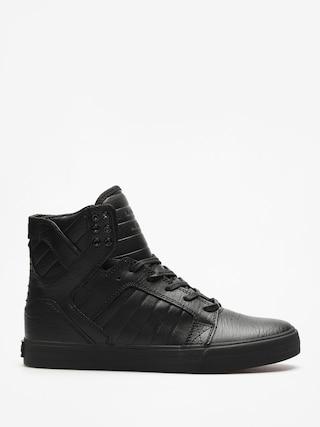Pantofi Supra Skytop (black/black red)
