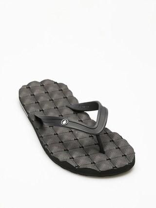 papuci de plaju0103 Volcom Recliner Rubr 2 (blk)