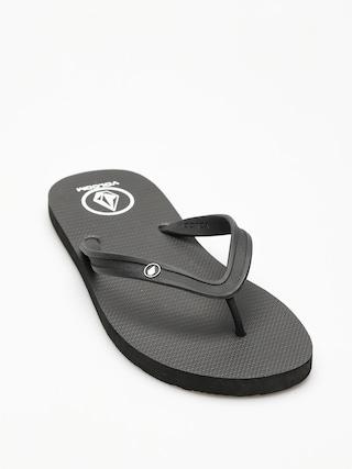 papuci de plaju0103 Volcom Rocker 2 Solid (blk)