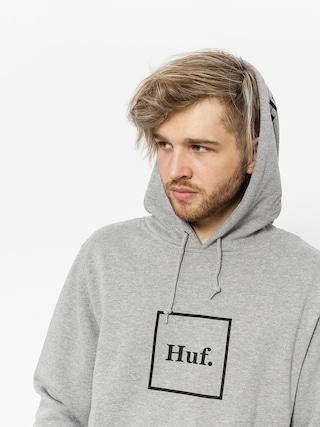 Hanorac cu glugu0103 HUF Box Logo HD (grey heather)