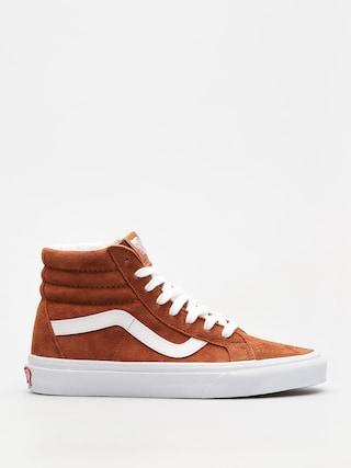 Pantofi Vans Sk8 Hi Reissue (leather brown/true white)