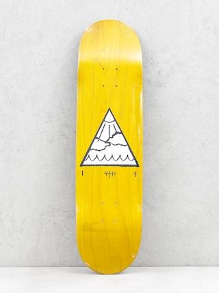 Placu0103 Youth Skateboards Triangle Logo (yellow)