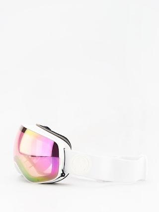 Ochelari pentru snowboard Dragon X2s (whiteout/lumalens pink ion/lumalens dark smoke)